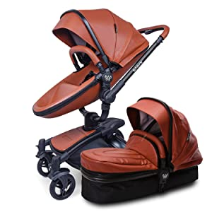 Baby Stroller Pram, 2 in 1 Travel System Baby Carriage