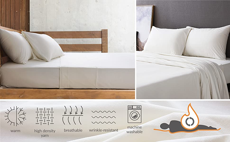 Bedsure Flannel Sheet Set