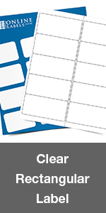 clear rectangle label
