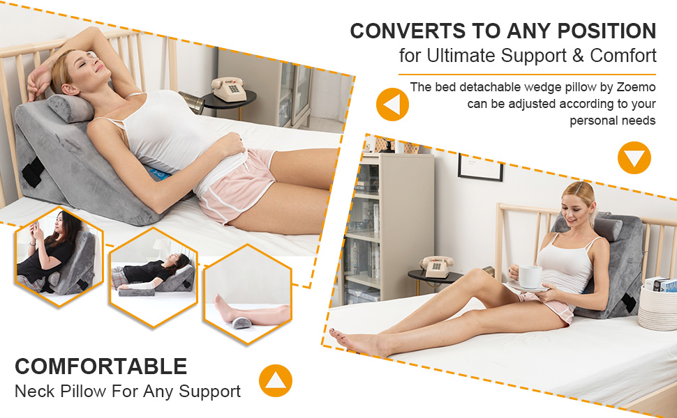 zoemo bed wedge pillows
