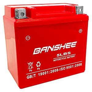 Banshee Replaces YTX5L-BS Motorcycle Battery for HONDA CRF230F,L ('07) 2003-2019, CRF230L,M 08-13