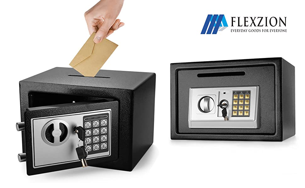 money box jewelry box gun safe cabinet Electronic Depository Safe Box with Drop Slot Posting Opening