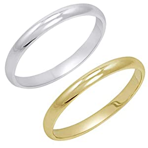Women's 14K Yellow Gold 2mm Classic Fit Plain Wedding Band (Available Ring Sizes 4-8 1/2)