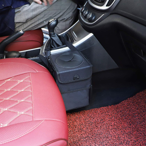 garbage can for car