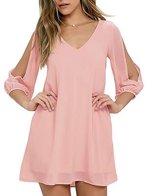 cold shoulder short dress for women shift dress