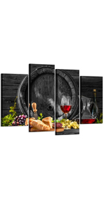 black white and red canvas wall art wine amp; grape kitchen decorations wine decor for kitchen