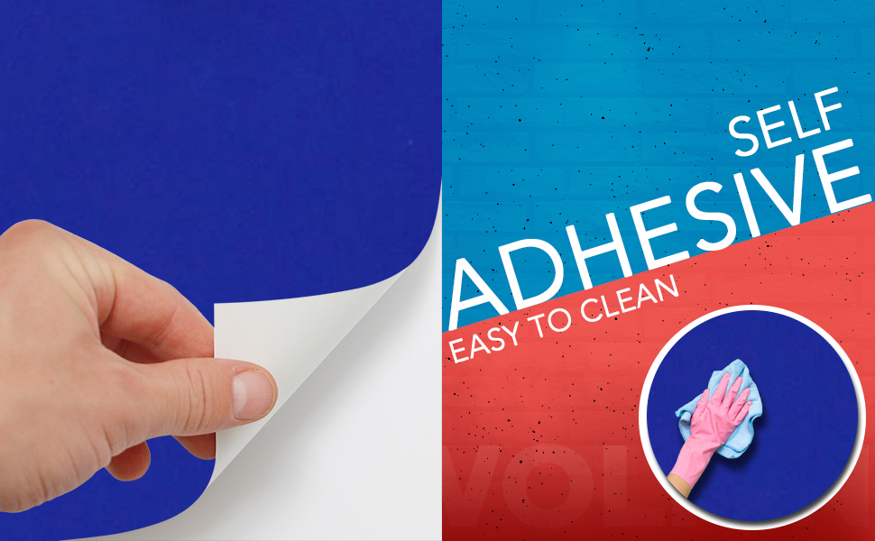 solid blue color wall stickers wallpaper, anti oil, decal, easy to clean, DIY, Self adhesive PVC