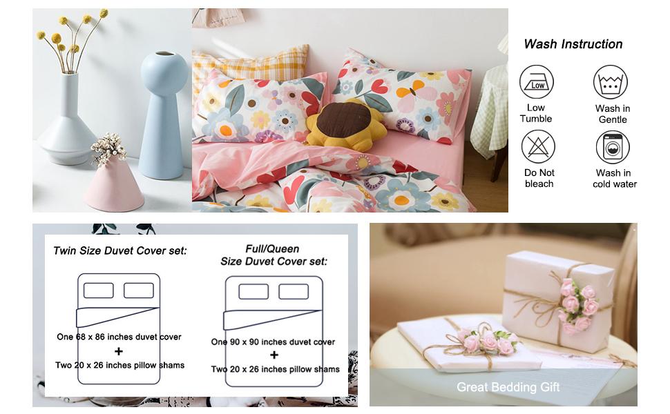 flower bedding twin for girls