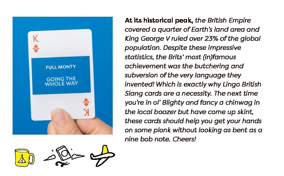 Lingo, Playing Cards, Travel, British, Language, Learning, Fun, Flash, Sight, Vocabulary, Gift