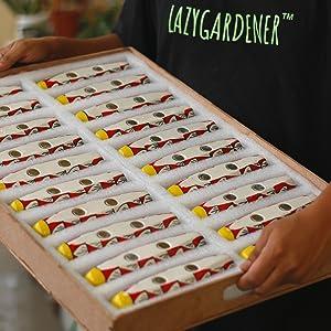 lazygardener, magnetic ceramic planter, pot for plants
