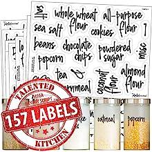 mega pantry cursive script label set