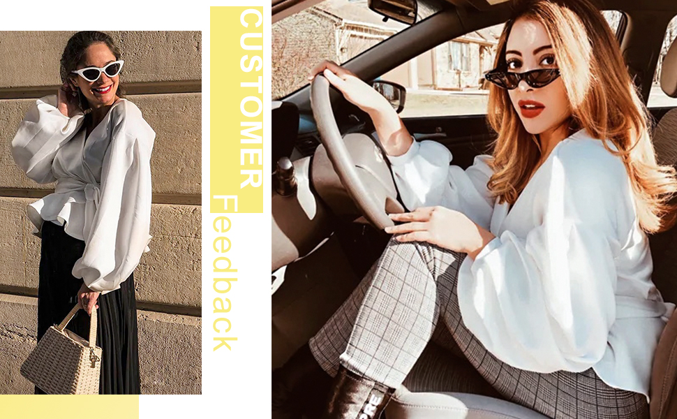 white v neck blouse