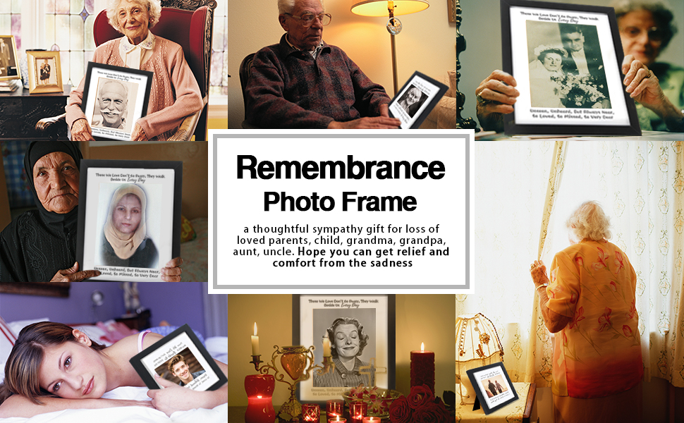 Remembrance Photo Frame a sympathy gift for loss of loved parents child grandma aunt uncle