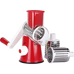 red rotary cheese grater