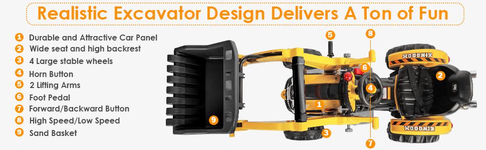 Realistic Excavator Design Delivers A Ton of Fun