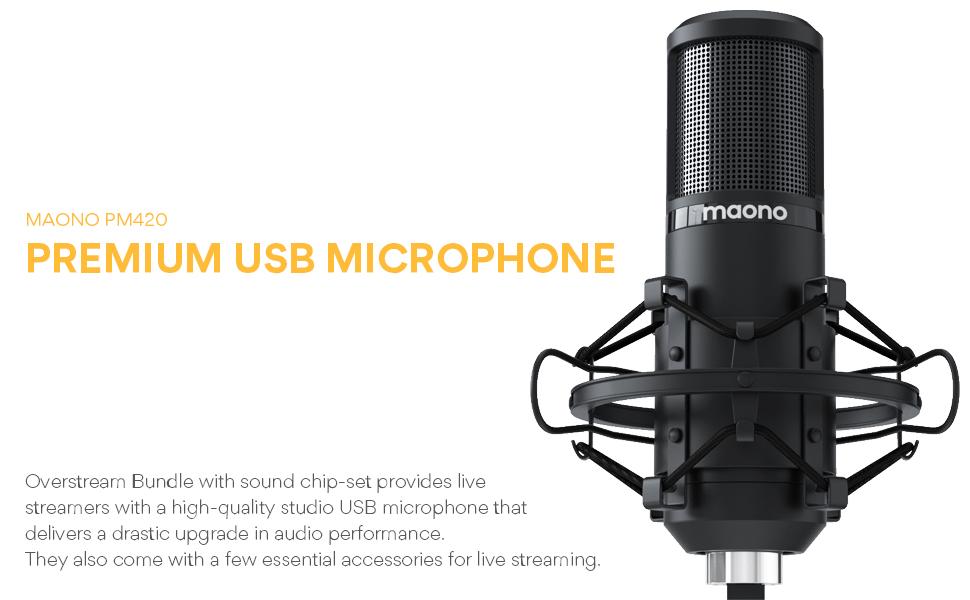 MAONO AU-PM420 Metal USB Condenser Microphone 7