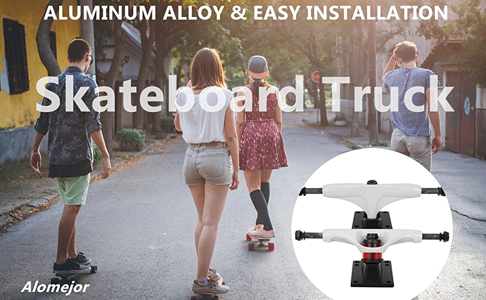 Details about  /2Pcs Truck Professional 4-8 Inch Aluminum Alloy Skate Board Standard Trucks For
