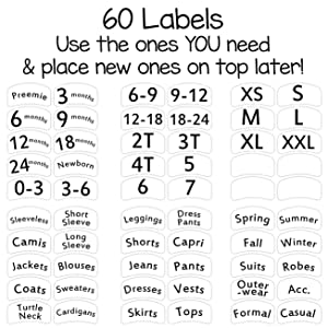 includes 60 labels