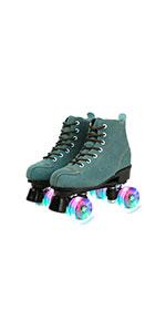 Blue Flash Roller Skates