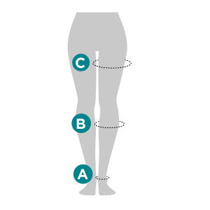 How to measure Ames Walker Sheer Support Compression Hosiery