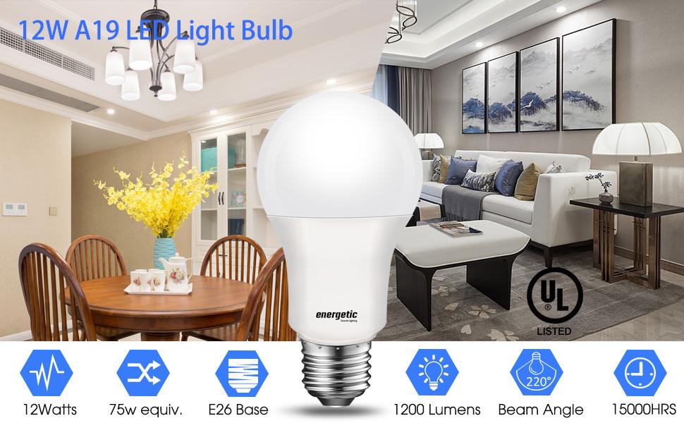 Daylight led light bulb 75W