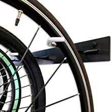 garage wall bike rack hooks rubber coated scratch free sturdy grip protective hanger vertical holder
