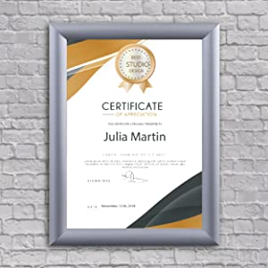 Diploma frames, Certificate frames, Snap frames 8.5x11, Snap frames 11x17, Diploma frame 11x14