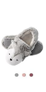 women slippers fox animal