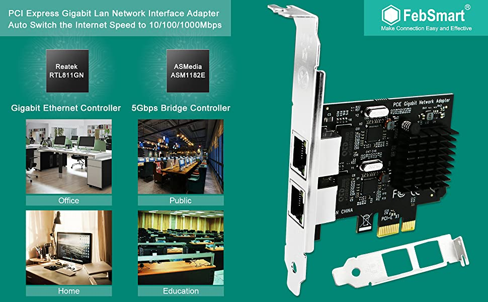 pcie network card pcie gigabit network adapter pcie nic card pci express nic card gigabit nic card