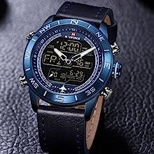 1- NAVIFORCE Watch  2- User Manual  3- Watch Fine Box