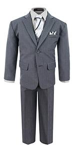 Formal suit, wedding, party, silver, set, boys, girls, gray, grey, tie, shirt, pants, jacket, vest