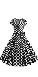 水玉 半袖ドレス