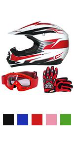 /& Goggles /& Leopard L Zorax Pink CAMO XS 3-4 Years LEO-X16 Kids Motocross Motorbike Helmet Motorcycle Helmet Kids Suit /& Gloves L 7cm 53-54cm