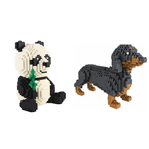 panda building blocks
