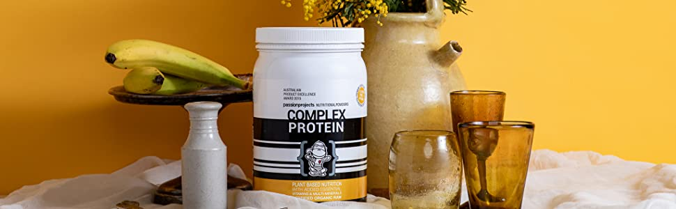 Organic Raw Vegan, Natural 100% Plant-Based Protein Powder. Gluten Free 100% Australian Cert Organic