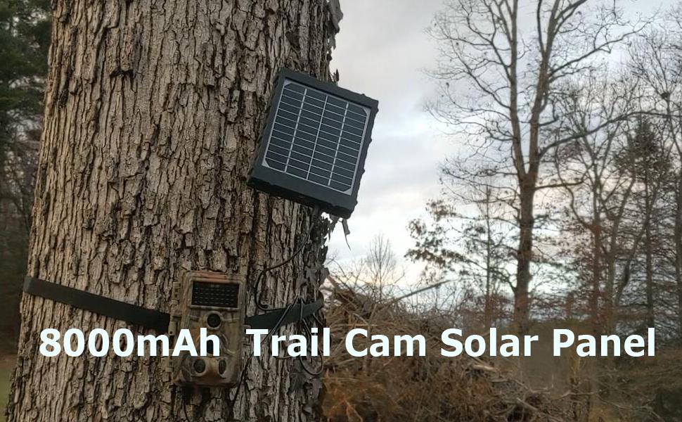 8000mAh  Trail Cam Solar Panel