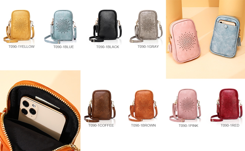 cartoon mobile phone purse hold phone girls pu leather shoulder bags  strap  dating bag lightweight