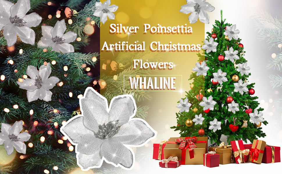 24Pcs Mini Double-Layer Christmas Flowers Rattan Garland Flower Accessory Decor