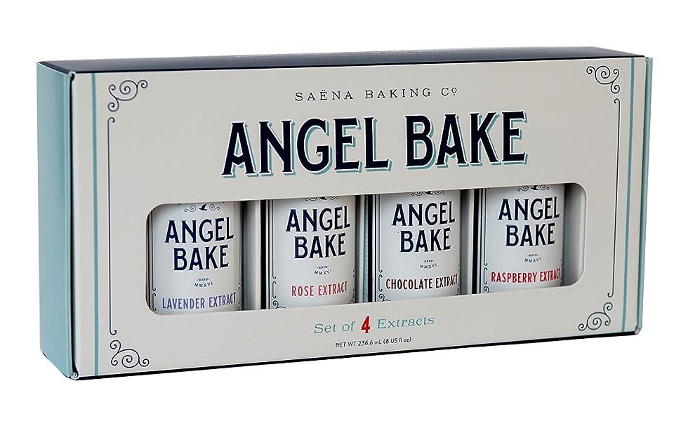 Extracto puro de regalo Set de lavanda rosa chocolate frambuesa extracto saborizante sabor Saena Angel Bake