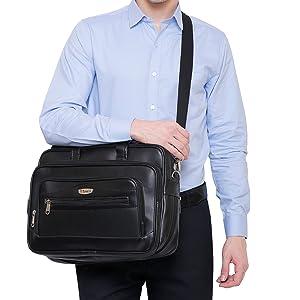 MESSENGER BAG MEN WOMEN LEATHER PURE OFFICE
