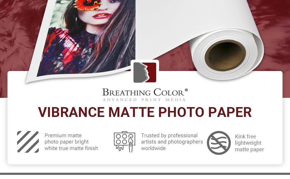 Breathing Color Vibrance Matte Photo Paper