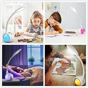 Lampe de Table Tactile, Blanc lampe de bureau, lampe d'ambiance, lampe de lecture,lumière de lecture
