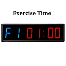 exercise train rest fitness crossfit garage timer
