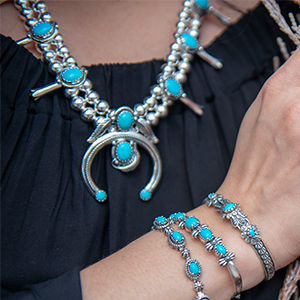 American West Jewelry sterling silver gemstone polish turquoise bold beautiful rope bracelet necklce