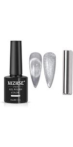 sliver cat eye gel nail polish