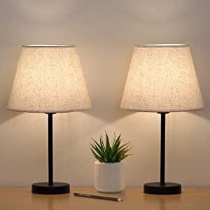 Lot de 2 lampes de chevet.