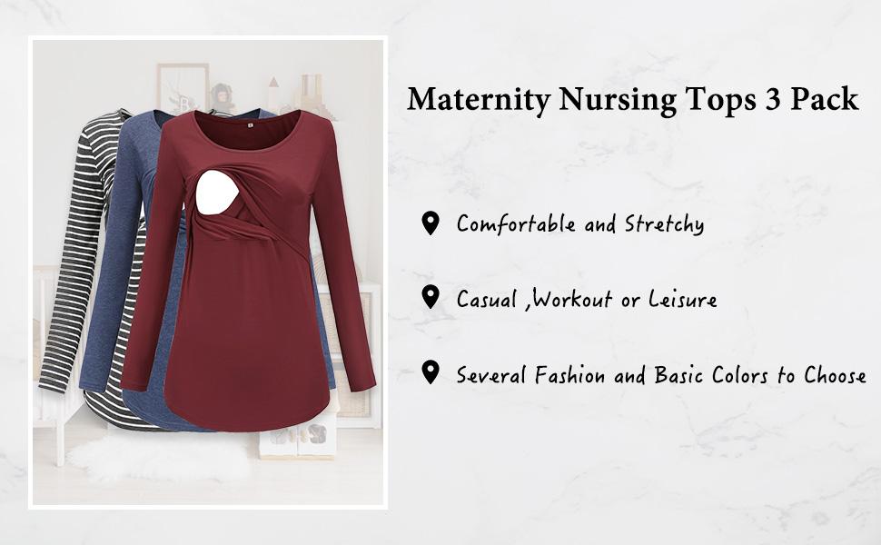 maternity nursing tops