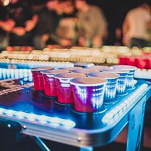 BeerBaller® Beer Pong Tisch Wood 'N' Ice mit Kühlfach