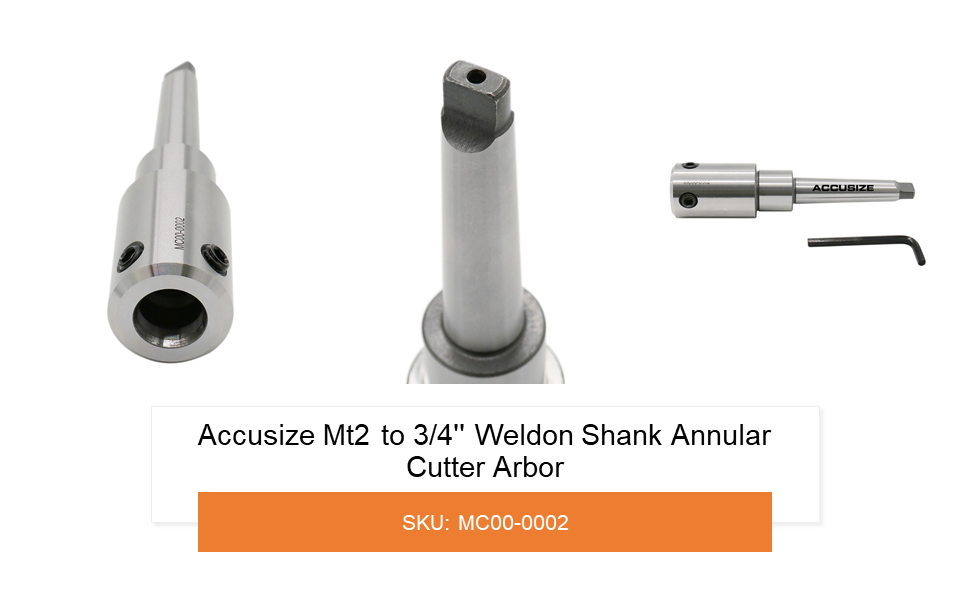 MT3 to 3//4/'/' Weldon Shank for Drill-use Annular Cutter on Drill Press Accusize