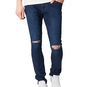 Blue Knee Distressed Jeans